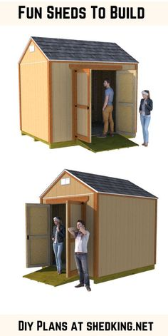It's not hard building your own shed.  Easy to use plans, building guides, materials lists and email support make your diy shed building a breeze.  Check out all my pdf downloadable plans today and start building tomorrow. Small Shed Plans, Shed Plans 12x16, Small Sheds, Diy Shed Plans, Backyard Storage Sheds, Diy Storage Shed, Utility Sheds, Build Your Own Shed, Simple Shed