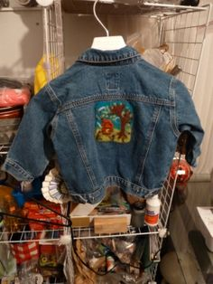 Needle Felted Recycled Jean Jacket in 2T
