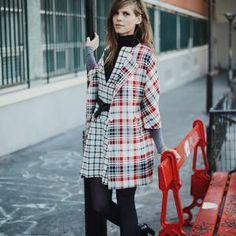 Le look de la semaine : le manteau à carreaux