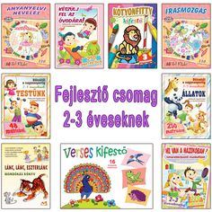 Fejlesztő csomag 2-3 éveseknek Montessori, Scrapbook, Logo, Books, Kids, Lilies, Young Children, Logos, Libros