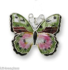 Zarah African Pink Forester Butterfly Charm Sterling Silver Enamel Discontinued