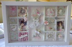 Shabby chic configurations frame  HAND MADE by TeacupAndRoses