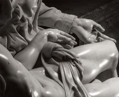 Detail of Michelangelo's Pietà, by Aurelio Amendola