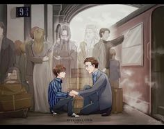 """Albus Severus Potter, you were named for two headmaster's of Hogwarts. One of them was a Slytherin, and probably the bravest man I ever knew"" Harry Potter World, Harry Potter Comics, Fanart Harry Potter, Harry Potter Triste, Images Harry Potter, Harry Potter Humor, Arte Do Harry Potter, Harry Potter Drawings, Harry Potter Love"