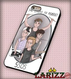 """5 seconds of summer perfect for iPhone 4/4s, iPhone 5/5S/5C/6/6 , Samsung S3/S4/S5 Case """"08"""""""