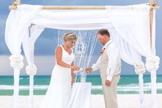 panama city beach wedding ceremony sand