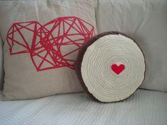 Wood Grain Pillow. $30.00, via Etsy.