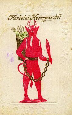 Krampus Postcards | Morbid Anatomy: December 2009