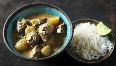 Slow cooker massaman curry from bbc.co.uk - an alternative to our usual green curry, although does need more planning!