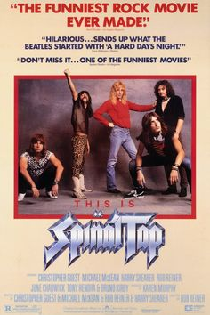 This Is Spinal Tap (1984). Classic Christopher Guest and easily my favourite (I really like Best In Show as well). A solid cast does the single best rock n' roll mockumentary that started the mock-doc genre. My ringtone is a clip from this film.