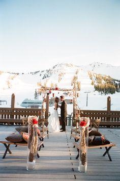 Snowy Winter Wedding Ideas.