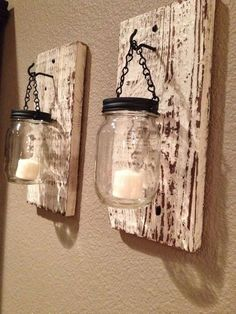 DIY Pallets and Mason jar #Lamps | 99 Pallets