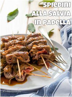Spiedini alla salvia in padella, un secondo di carne facile, veloce e delizioso!