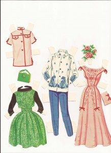 It was so much fun pinning on the different outfits...and sometimes I'd make my own and that was creative fun :)