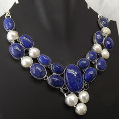 Hey, I found this really awesome Etsy listing at https://www.etsy.com/listing/240961274/good-looking-lapis-lazuli-pearl-necklace