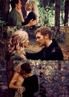 I just realise the she and klaus were in the forest when klaus rescued caroline in the first pic