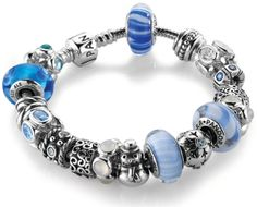 Snowy Nights - Pandora, Finished Bracelets :: Little Treasure Trove Love this!