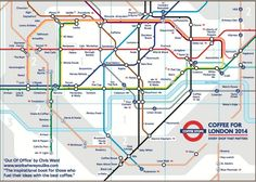 My favorite coffee shop is on this map! This Tube Map Of The Best Coffee Shops In London Is Marvellous London Coffee Shop, Best Coffee Shop, Coffee Shops, London Underground, London Tube Map, Just Dream, To Infinity And Beyond, London Calling, Dreams