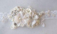 Vintage Style Bridal Cuff, Custom Rustic Wedding Bracelet, Rhinestone Pearl Bracelet, Bridal Bracelet - WHISPER. $50.00, via Etsy.