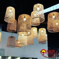 Đèn mây tre đan trang trí nhà cửa, nhà hàng, quán cafe với đủ loại kiểu dáng khác nhau đơn giản đẹp, hãy liên hệ +84979 083 286 / 0948 914 229 (Call/Viber/WhatApps),www.denlongxua.com; denlongxua@gmail.com #đènlồngxưa #đènmâytre #bamboolamp #đènmâytretrangtrí #vietnam #hoian #lanterns #socialmedia #lamp #pinterest #mâytređan #beauty Restaurant Design, Chandelier, Ceiling Lights, Lighting, Home Decor, House, Ideas, Gourmet, Candelabra