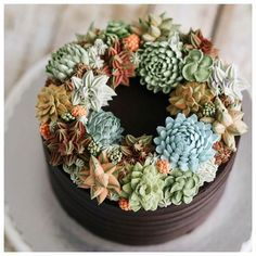 'Succulent Cakes' Turn Prickly Plants into Delicious Desserts That Look Too Good To Eat Pretty Cakes, Cute Cakes, Beautiful Cakes, Amazing Cakes, Cactus Cake, Dessert Decoration, Decorations, Fancy Cakes, Pink Cakes