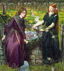 Dante Gabriel Rossetti, 1865, Dantes visioen over Rachel en Lea.
