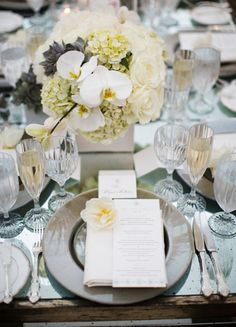 Individual Place Setting   // Photo: Samuel Lippke Studios and Allan Zepeda // Wedding Planning: Details Details // TheKnot.com
