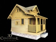 Craftsman style playhouse with plans