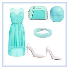 """""""Beautiful blue"""" by afisdq on Polyvore featuring Gianvito Rossi, Michael Kors, Swarovski, Eos, women's clothing, women, female, woman, misses and juniors"""