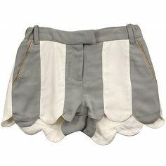 Ivory & Grey Stripe Shorts MARC JACOBS