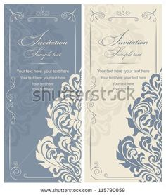 Wedding invitation old hollywood glamour hollywood glamour invitation cards baroque blue beige stock vector stopboris Images