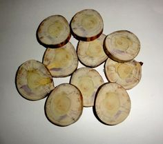 Wood slices 10 qty. Unusual look wood for jewelry by NayasArt