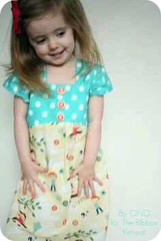 This simple slip-on sundress will fit your favorite little girl to a T (from the Ribbon Retreat)