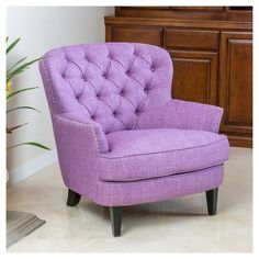 Find Christopher Knight Home 296538 Tafton Arm Chair, Light Blue online. Shop the latest collection of Christopher Knight Home 296538 Tafton Arm Chair, Light Blue from the popular stores - all in one Purple Chair, Purple Fabric, Purple Colors, Color Blue, Design Club, Club Chairs, Desk Chairs, Room Chairs, High Chairs