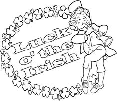 st patricks day coloring pages high school | 89 Best St. Patrick's Day images | Coloring pages, Kid ...