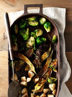 Rustic roasted vegetables.