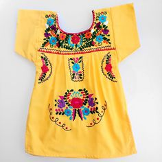 mexican embroidered dress by threebigsmiles on Etsy