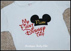 First Disney Trip Tee Shirt SS with Monogram Mickey or by bbcnola, $21.00