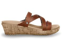 Crocs™ Women's A-Leigh Mini Wedge Leather | Comfortable Women's Cork Wedge Sandal | Crocs Official Site