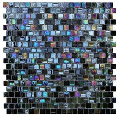 Shop for Opal Black Glass Mosaic Wall Tiles (Pack of Get free delivery On EVERYTHING* Overstock - Your Online Home Improvement Shop! Get in rewards with Club O! Mosaic Wall Tiles, Mosaic Glass, Glass Art, Glass Tiles, Backsplash Tile, Backsplash Ideas, Tiling, Stained Glass, Iridescent Tile