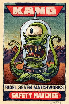THE SIMPSONS ALIEN KANG SAFETY MATCHES ART