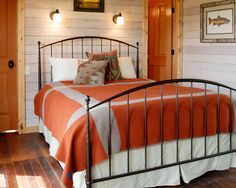 Cozy bedroom with Pendleton blankets