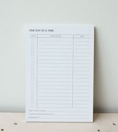 Planner | One Day At A Time