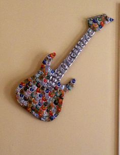 Bottle cap guitar