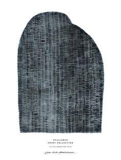 Poster A4 - Blue Mountain    https://stilleben.dk/collections/print