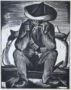 Leopoldo Méndez, El guerrillero de la armónica,ca. 1929