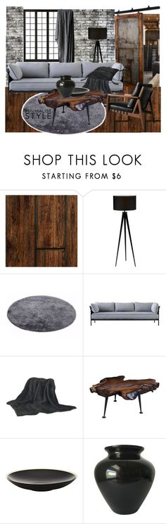 """""""pasion of brown and grey"""" by maria-tzi ❤ liked on Polyvore featuring interior, interiors, interior design, home, home decor, interior decorating, WALL, Dot & Bo, TOM TAILOR and Moe's Home Collection"""