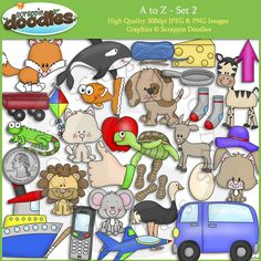 A to Z Set 2 Clip Art