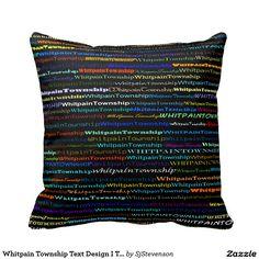 Whitpain Township Text Design I Throw Pillow