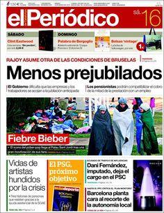 Los Titulares y Portadas de Noticias Destacadas Españolas del 16 de Marzo de 2013 del Diario El Periódico ¿Que le parecio esta Portada de este Diario Español?